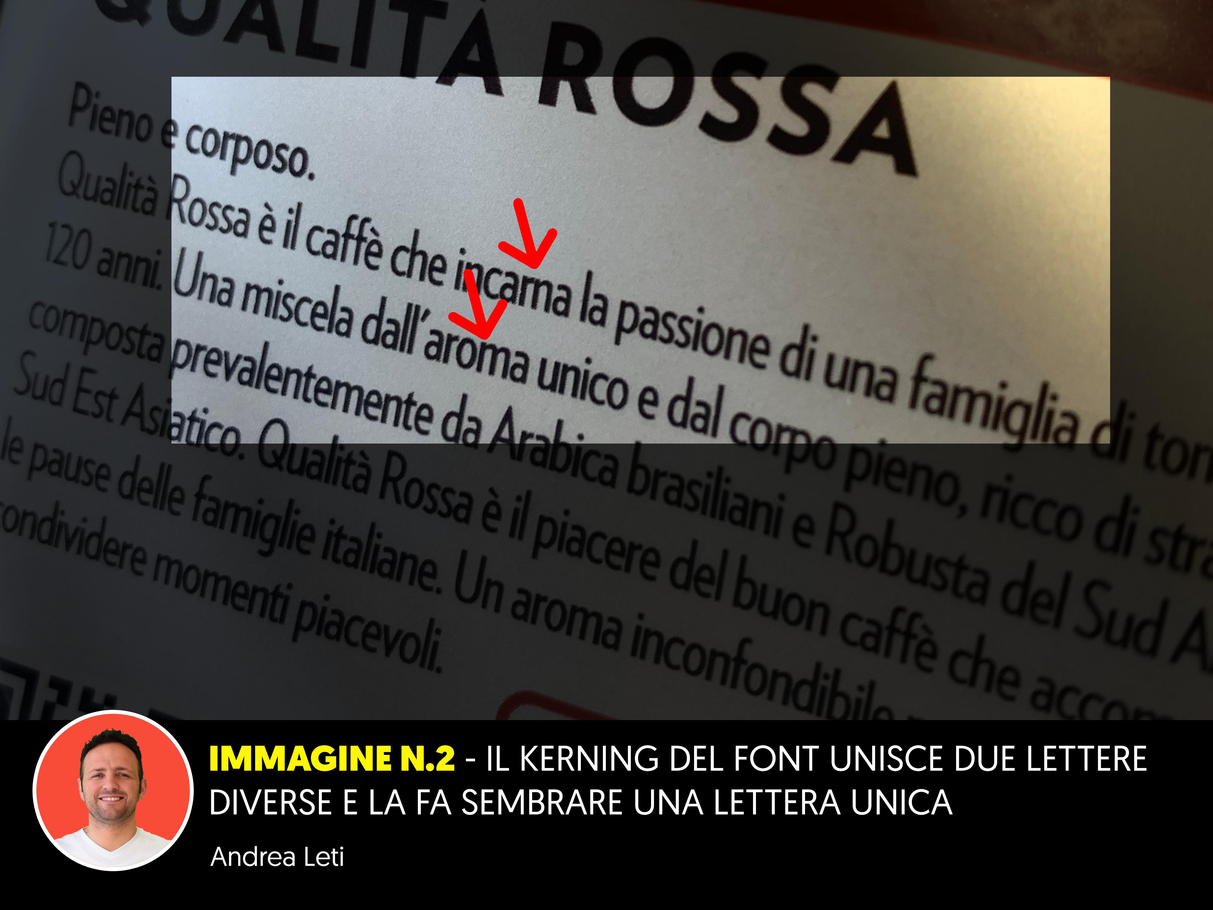 Scelta del font sbagliato
